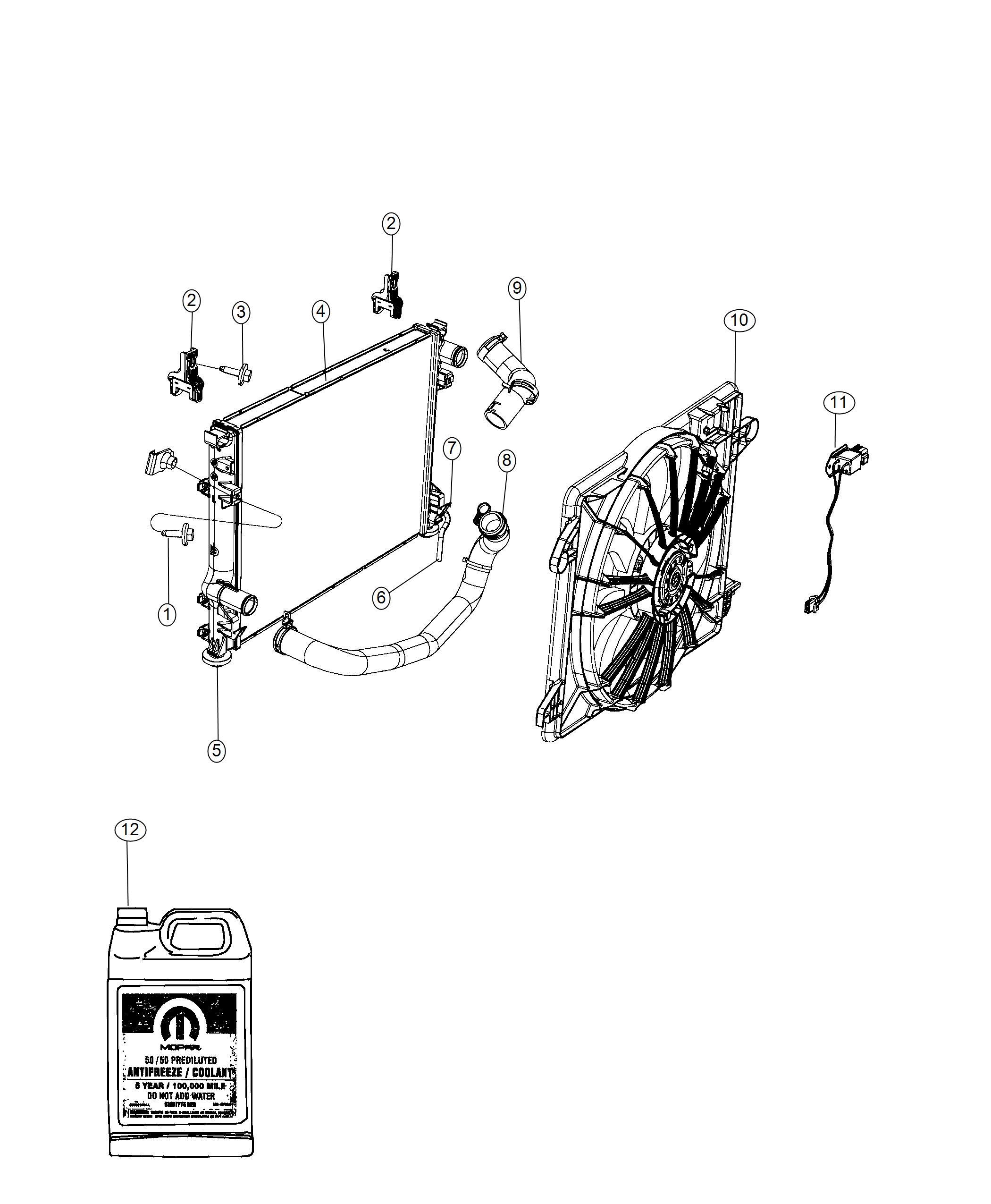 Dodge Challenger Hose Radiator Outlet Related Fan