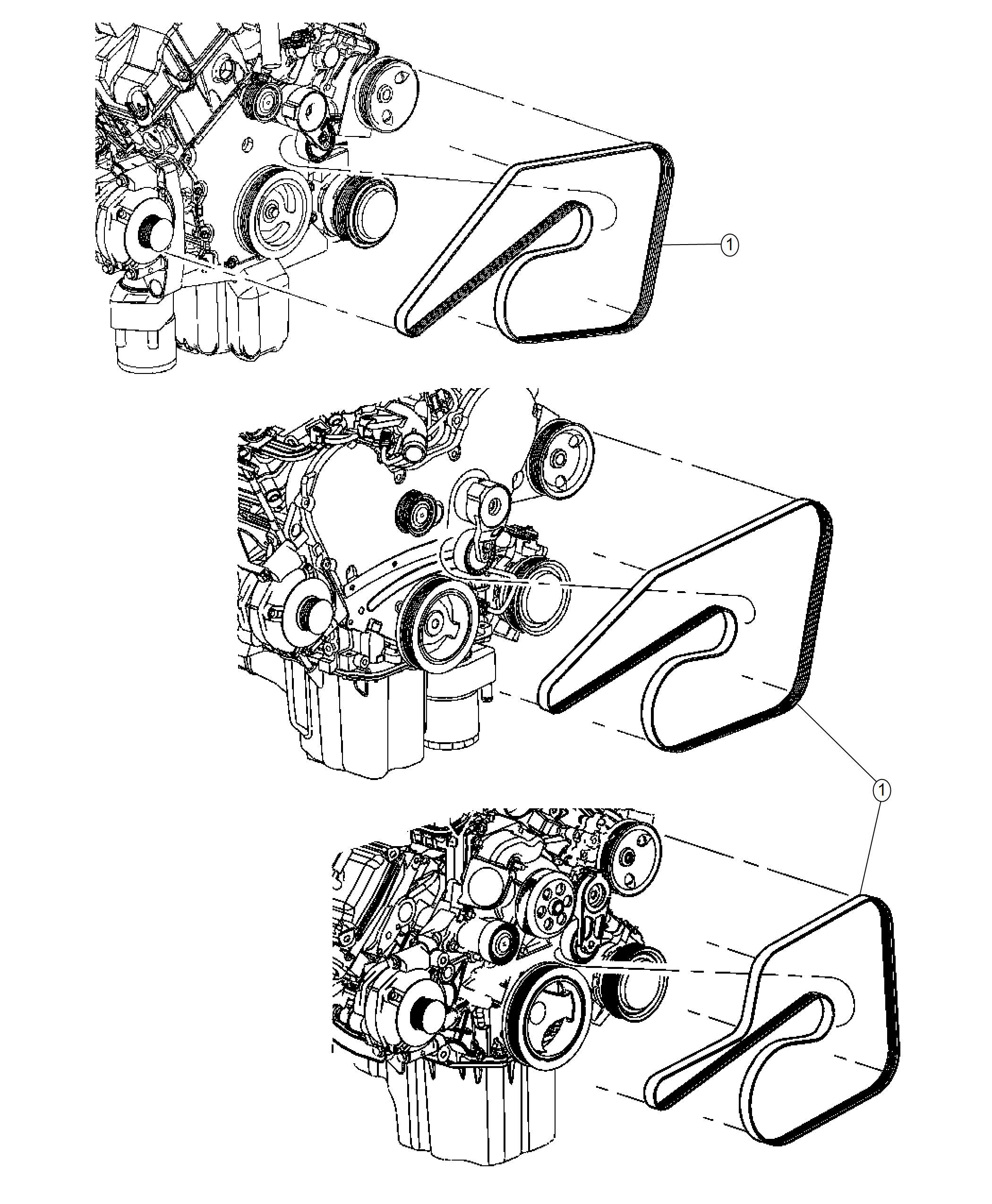 Chrysler 300 Belt Serpentine Belts Mopar Drive