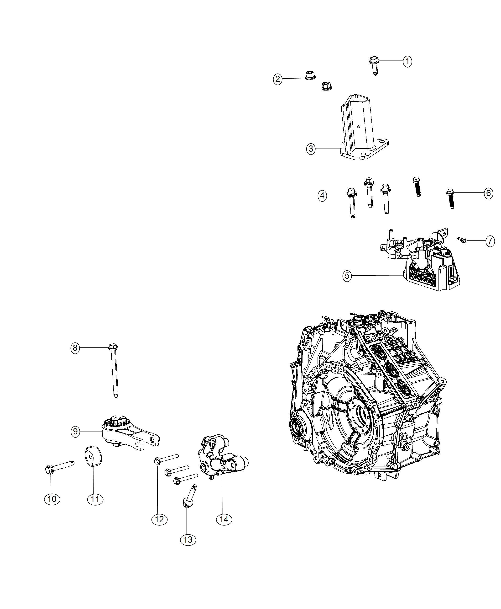 Chrysler Pacifica Bracket. Transmission mount. Mounting