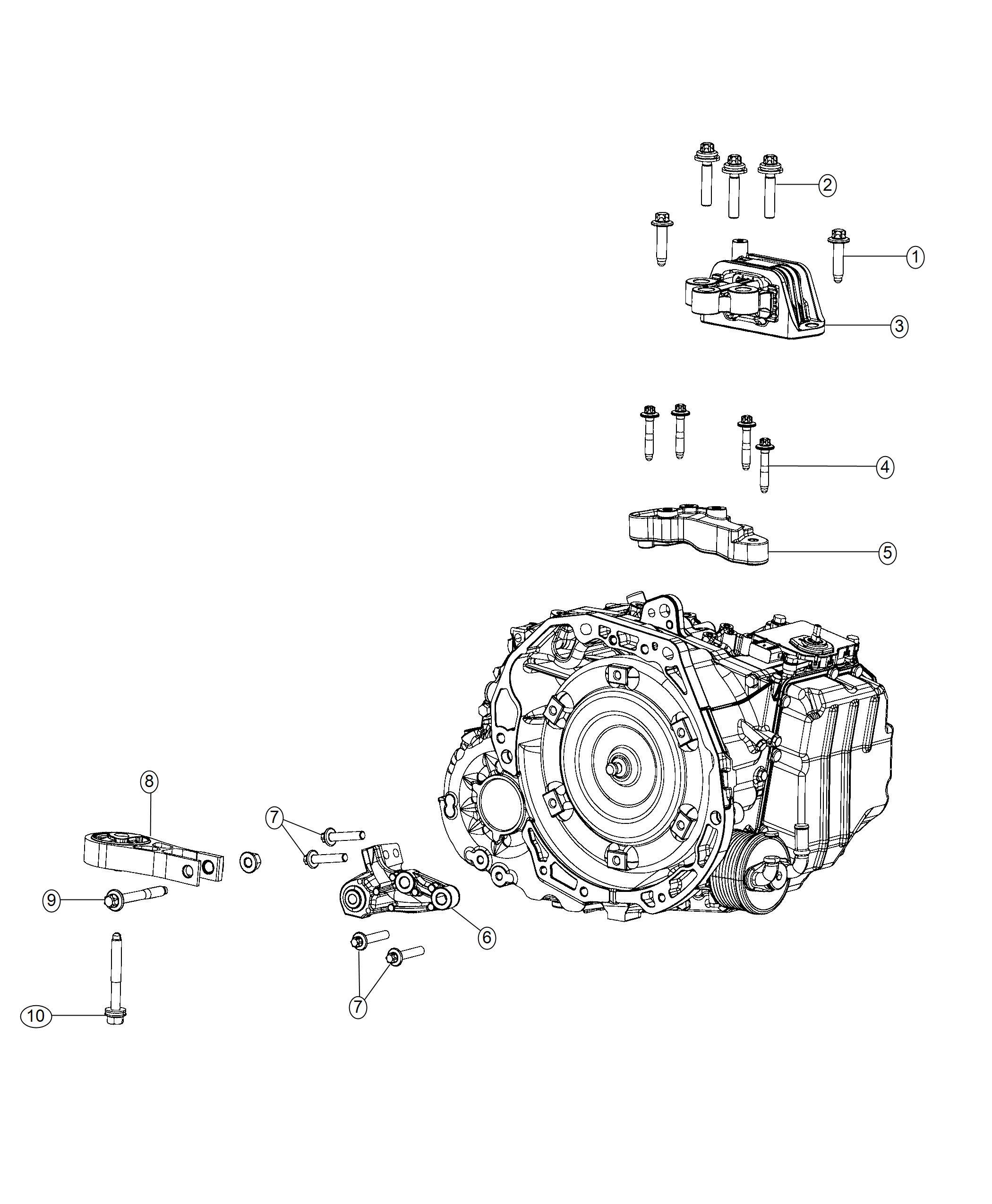 Jeep Compass Isolator. Transmission mount. [6-spd aisin