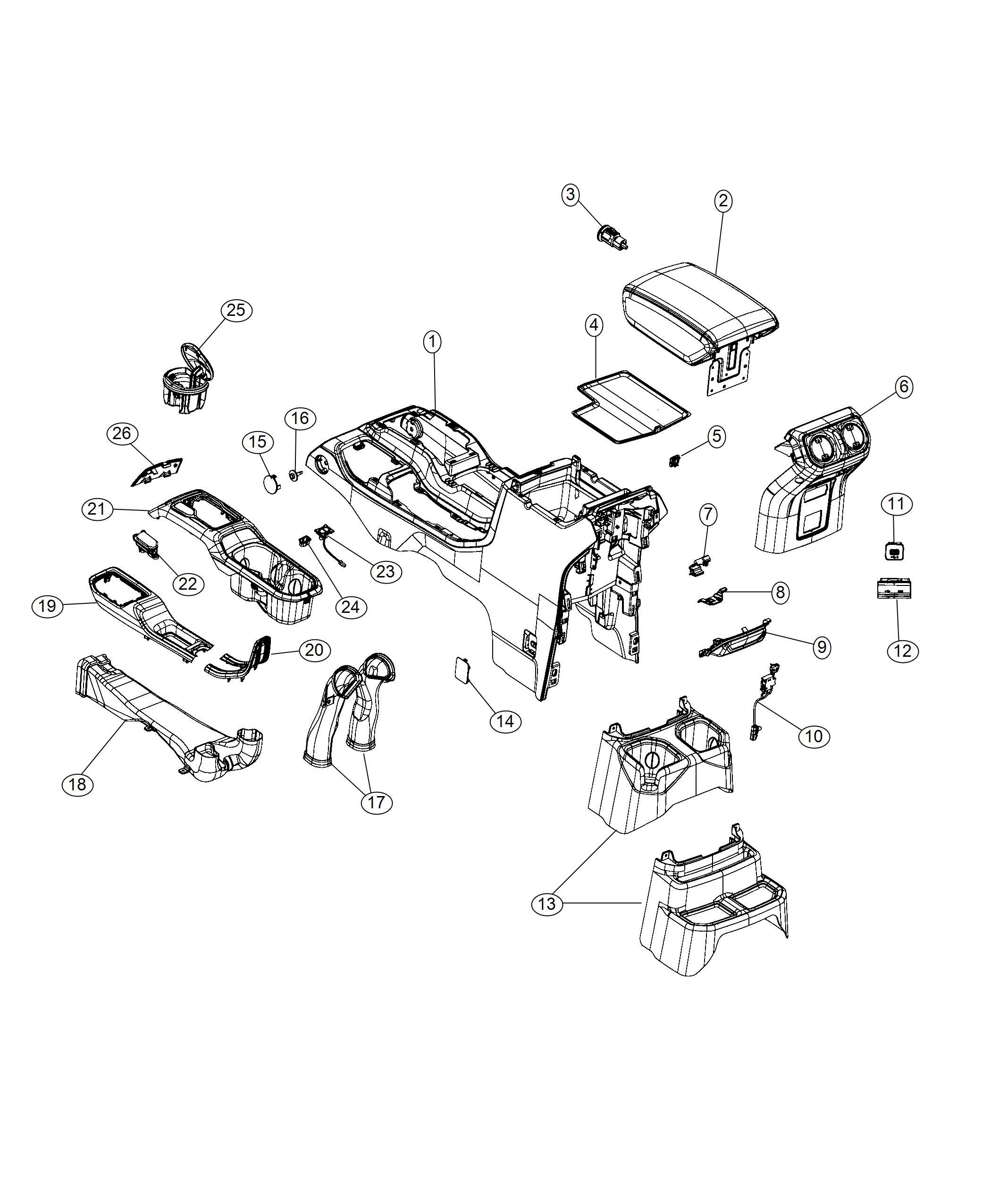 Jeep Wrangler Bezel. Floor console. [sandstone], [global