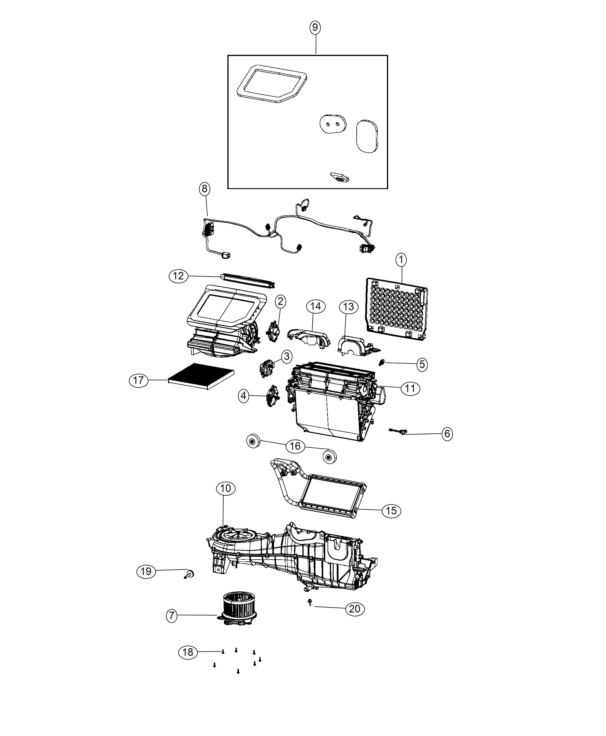 Jeep Wrangler Wiring. Used for: a/c and heater. [heater w