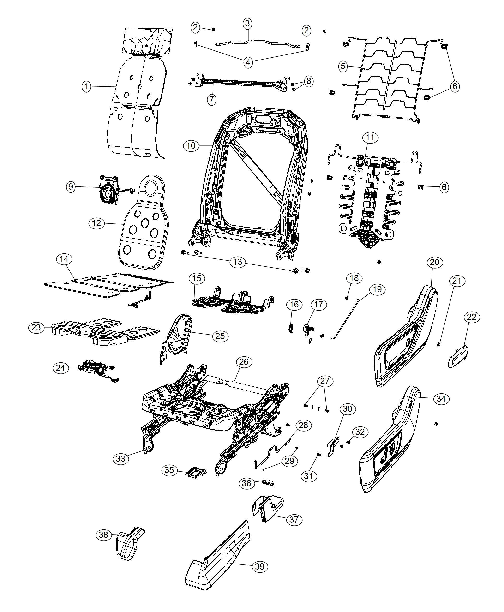 Ram 1500 Screw. M10x1.5x28.0, m10x1.5x30. Seat, folding