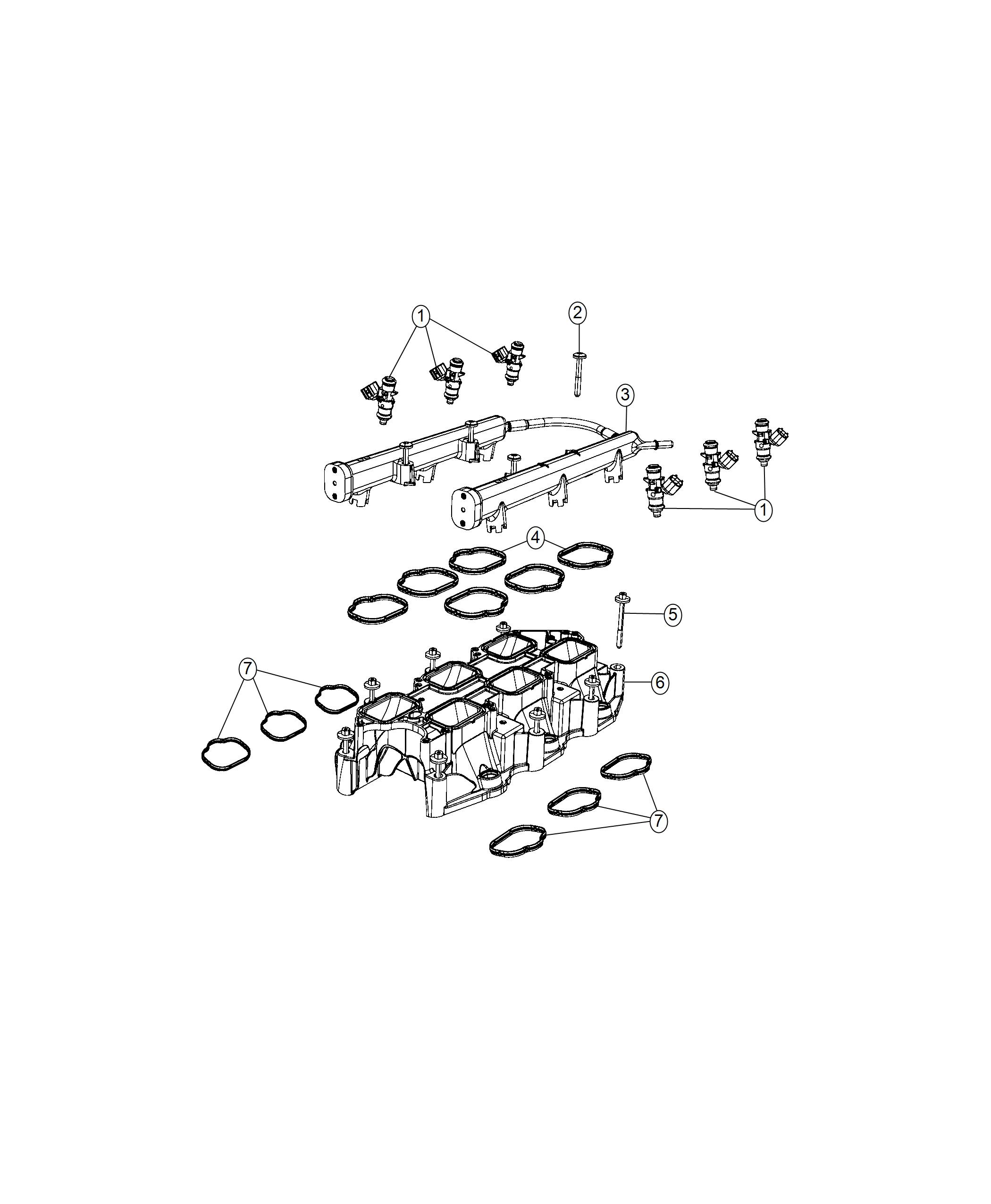 Jeep Wrangler Seal Plenum Engine Vvt Upg