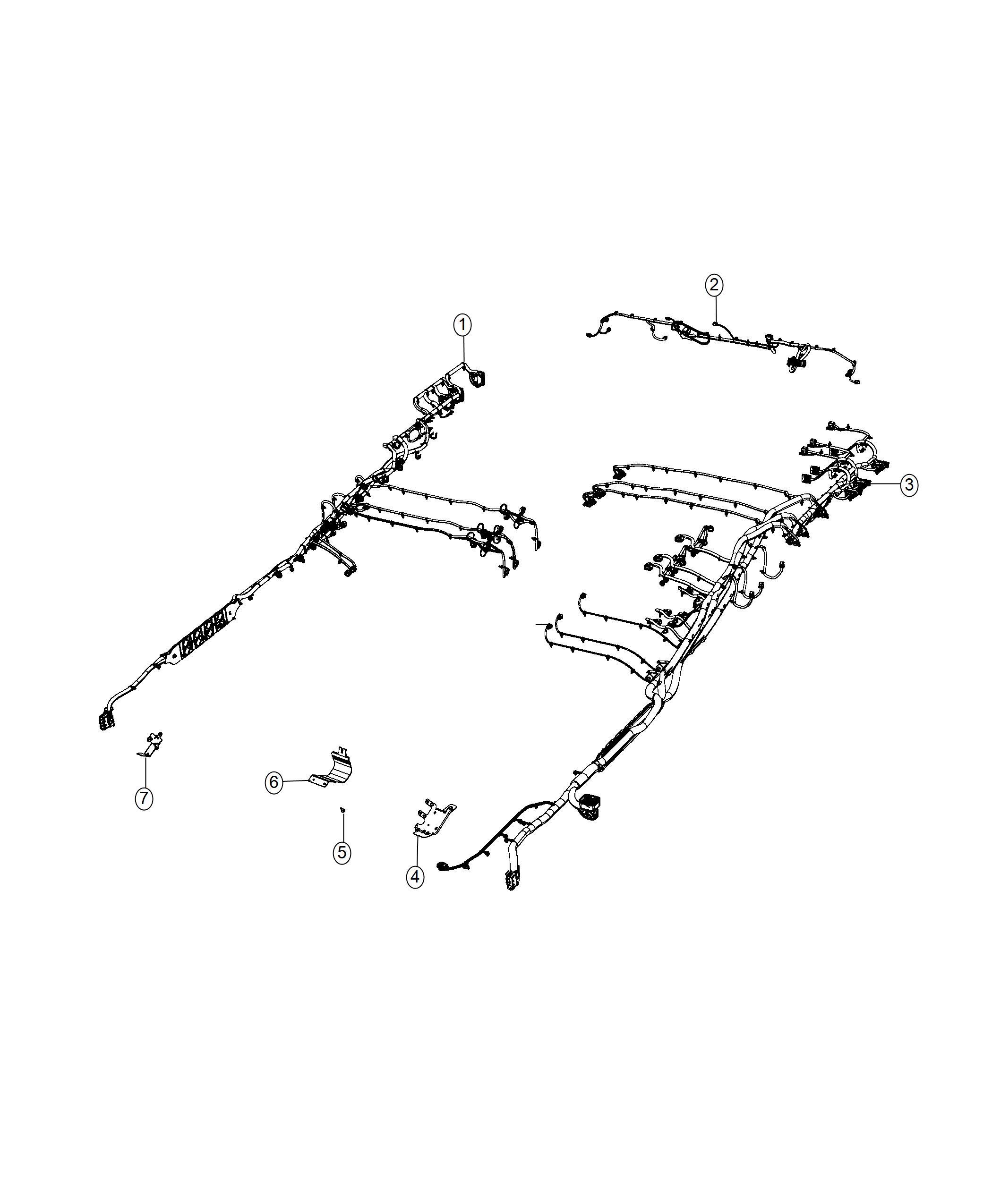 Ram 1500 Wiring. Rear fascia. [rear bumper module