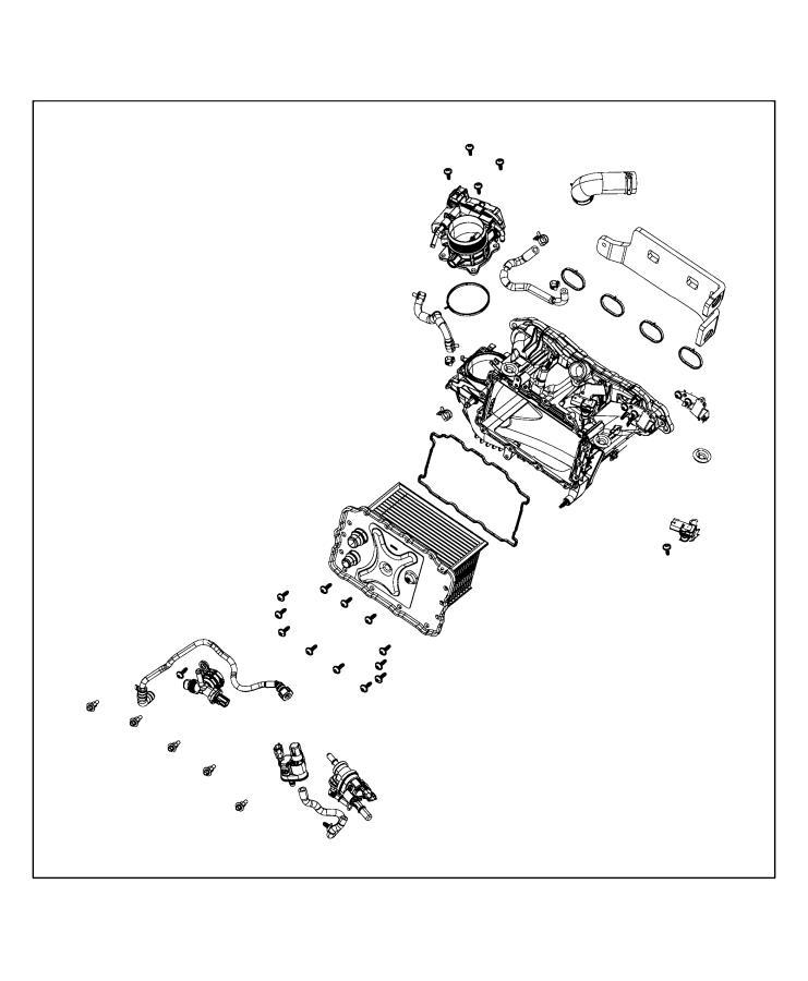 Jeep Wrangler Manifold. Intake. Turbo, injected, fca