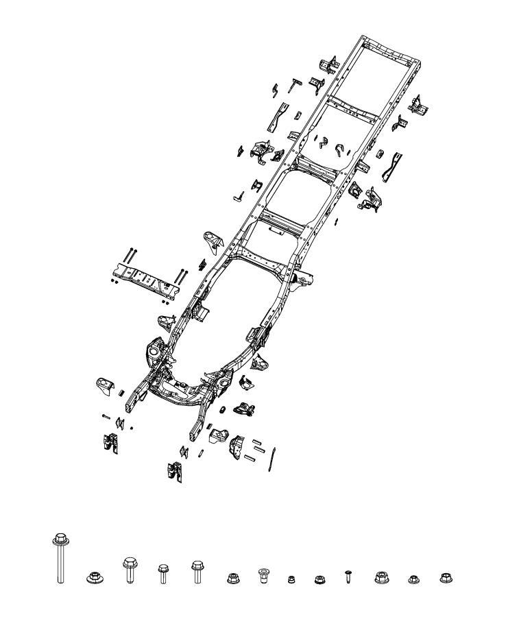 Ram 3500 Bracket. Frame rail. Right or left. [fuel tank