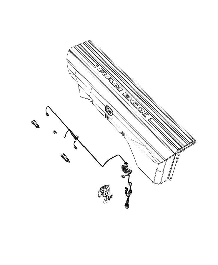Ram 1500 Wiring. Door lock actuator. Left. [rambox cargo