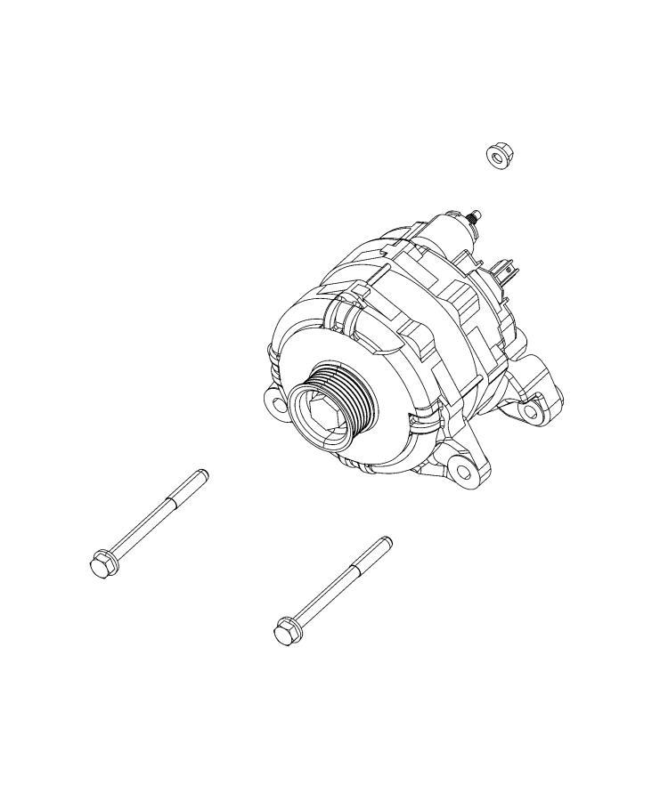 Ram 1500 Generator. Engine. [220 amp alternator