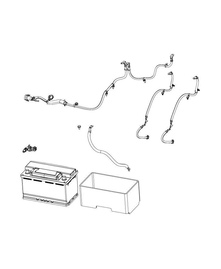 Chrysler Voyager Wiring. Battery positive. [180 amp