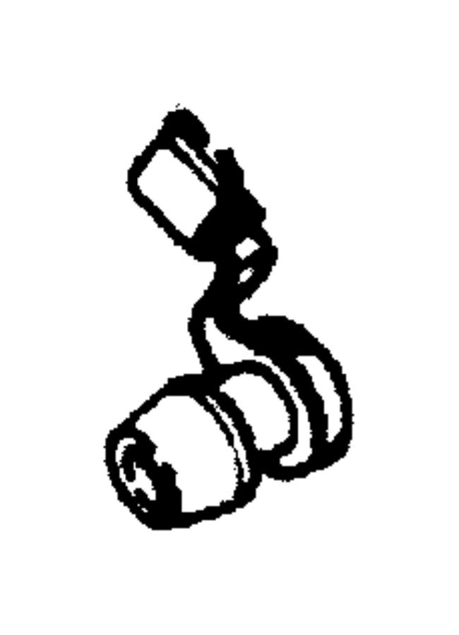 Dodge Intrepid Clip. Latch, latch link. Orange, purple