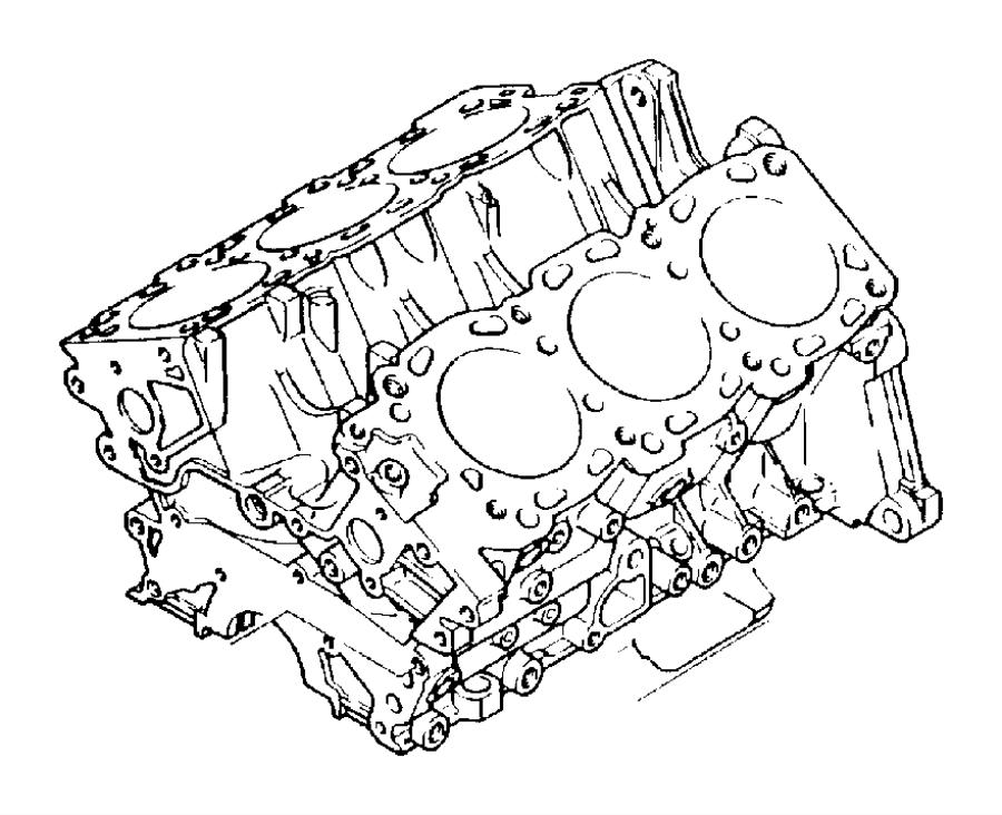 Chrysler Grand Voyager Bushing. Cylinder block. (12x13