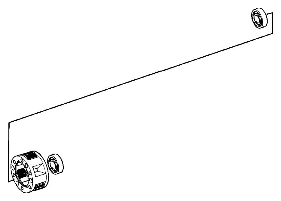 Dodge Ram 1500 Bearing. Input shaft. Automatic