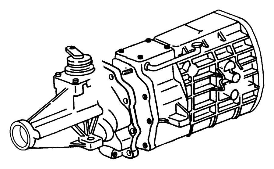 Dodge Ram 3500 Case. Transmission. Clutch, extension
