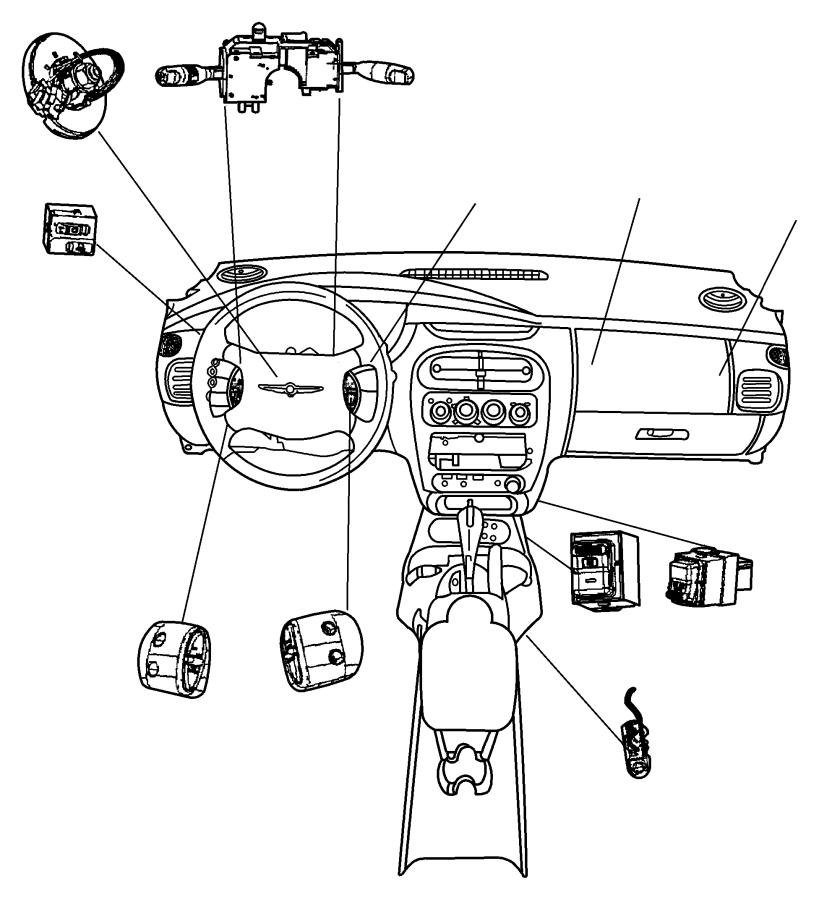 Dodge NITRO Switch. Parking brake. Trim: [no description