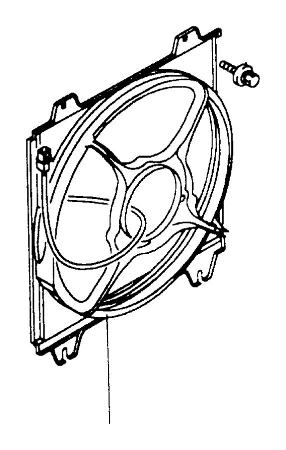 Chrysler Sebring Used for: BOLT AND WASHER. M6x16. Black
