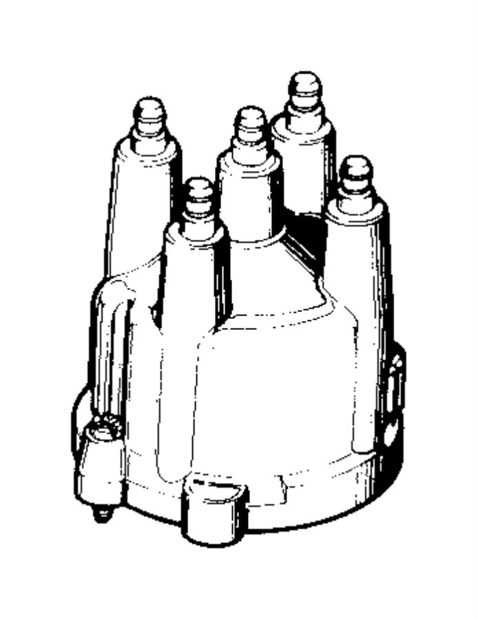 Dodge Dakota Cap. Distributor. Mopar, engine, distributors