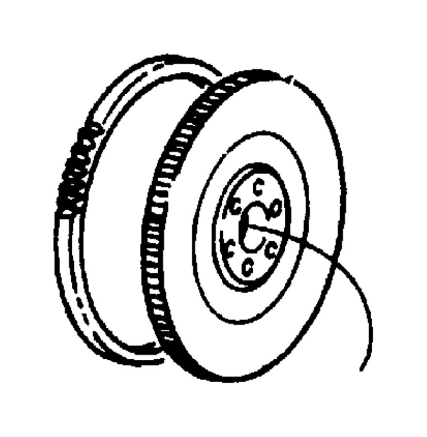Dodge Dakota Gear. Flywheel ring. Crew cab, manual