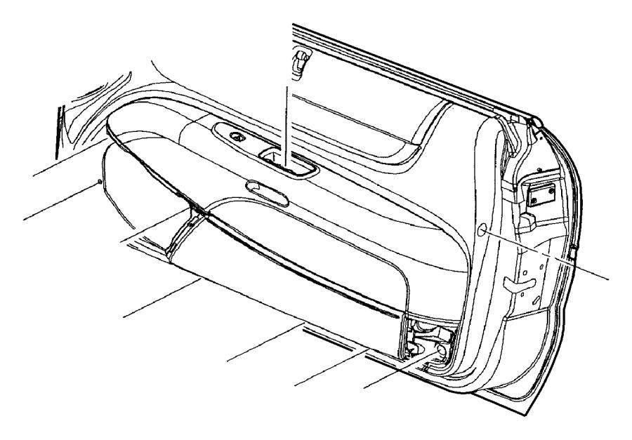 Chrysler Sebring Handle. Inside remote control. Left. [bp