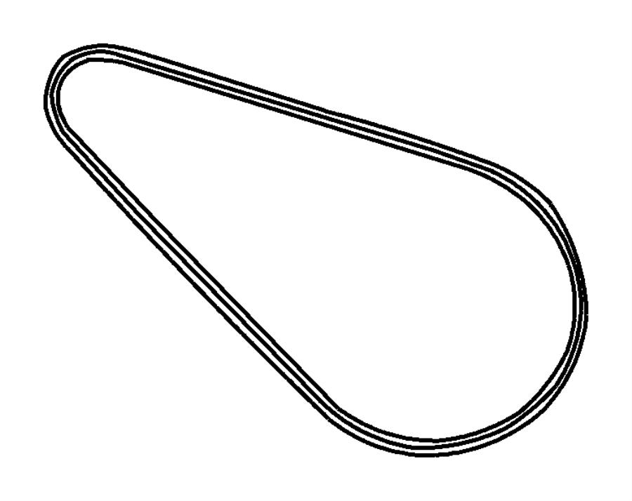 Chrysler PT Cruiser Belt. Alternator drive. Alternator