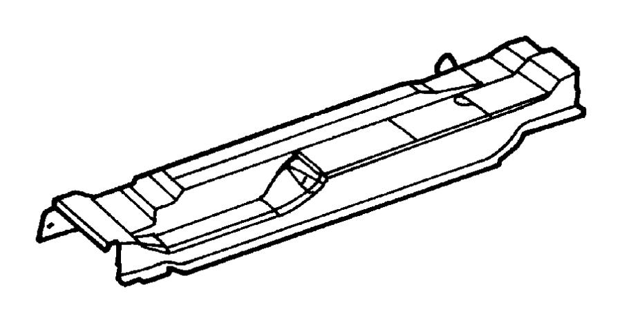 Dodge Dakota Pan. Floor. Left. Standard, fca, cab