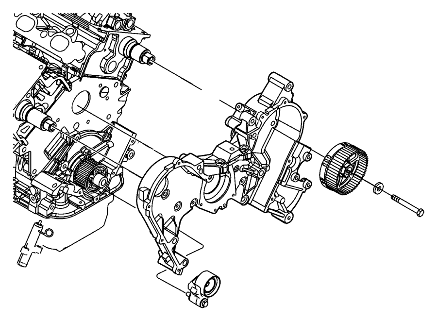 Dodge Challenger Tensioner. Belt. Engine, timing, mpi