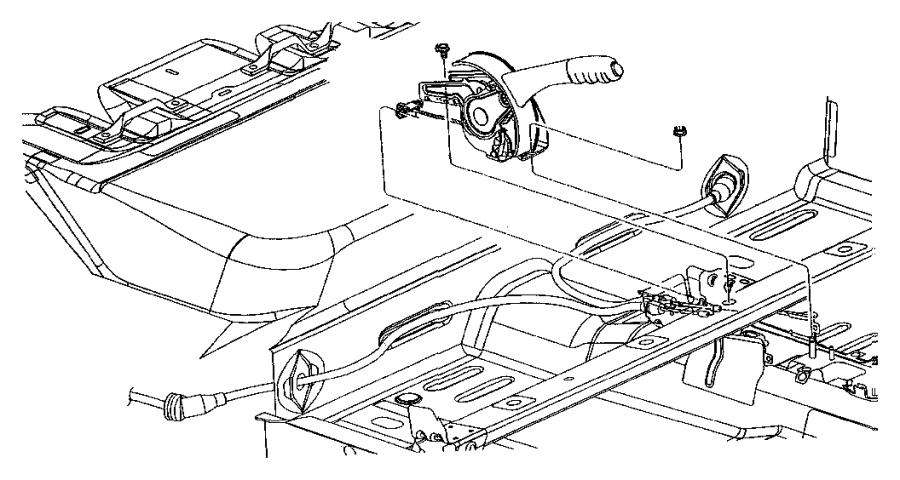 Chrysler PT Cruiser Screw. Park brake switch, switch