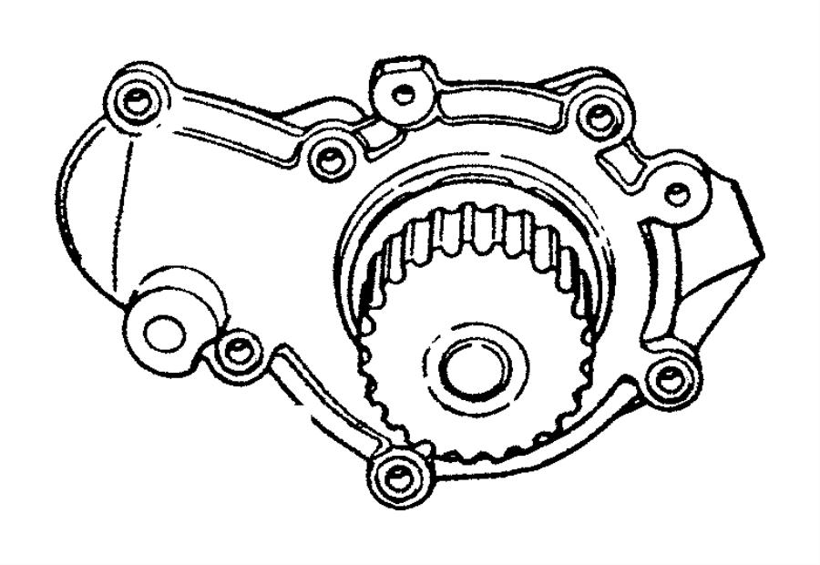 Chrysler PT Cruiser Pump. Water. [2.4l 4 cyl dohc 16v ho