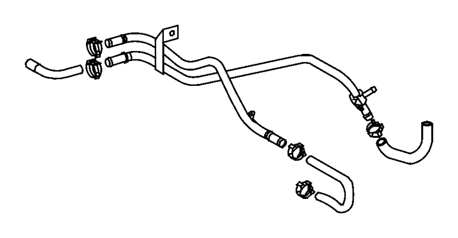 Dodge SPRINTER Hose. Fuel. Mopar, line, filter