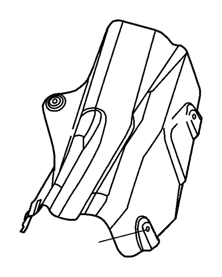 Chrysler Sebring Nut. Heat shield attach. M5x1.60. Brake