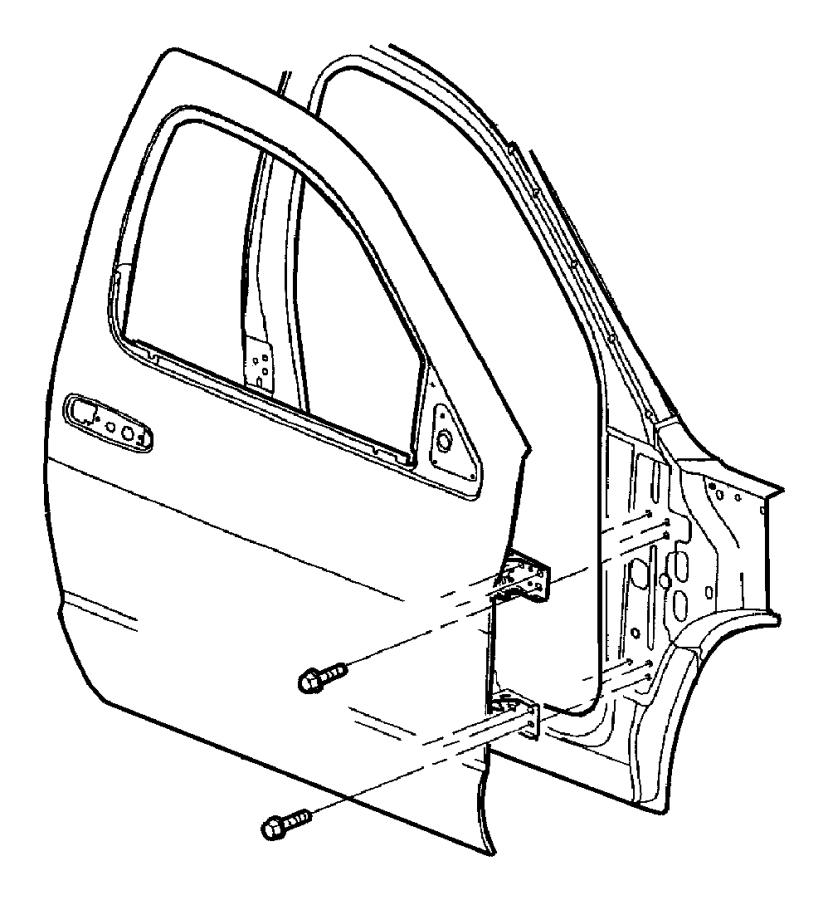 Dodge Ram 5500 Clip. Speaker. B pillar, speaker to frt