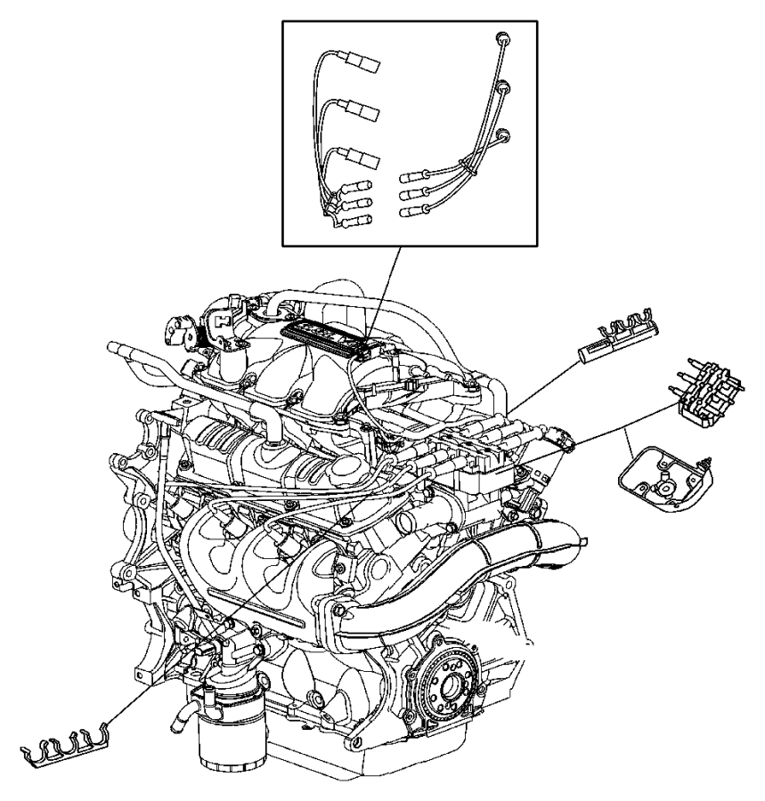 Chrysler Town & Country Spark plug. Re-14-plp5. Plugs