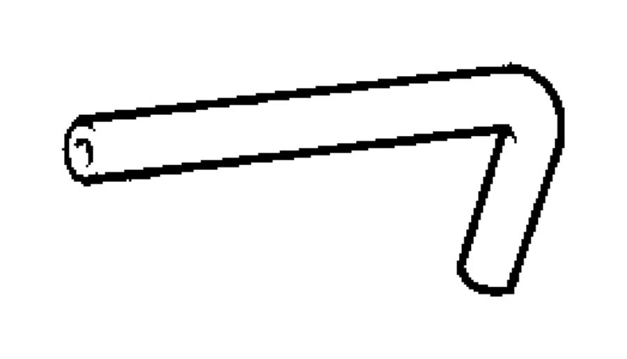 Chrysler PT Cruiser Hose. Brake booster vacuum