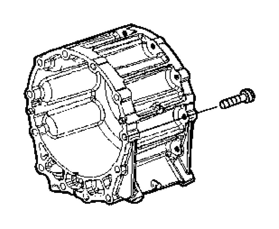 Dodge SPRINTER Bolt, screw. Torx head. M8x1.25x35.00