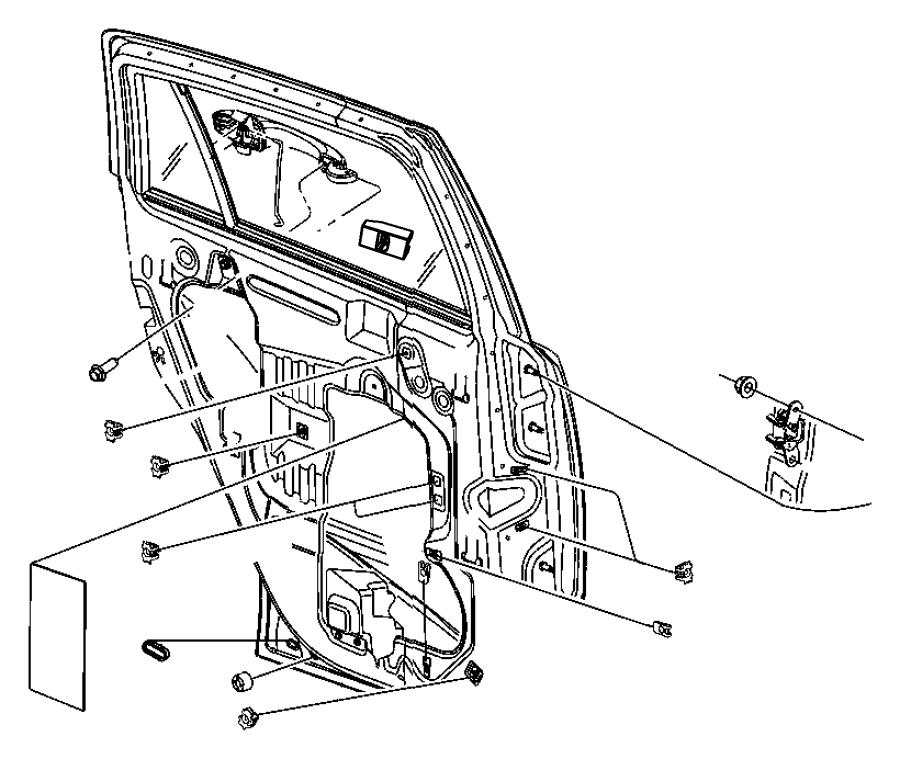 Jeep Grand Cherokee Bracket. Door handle. Left, right