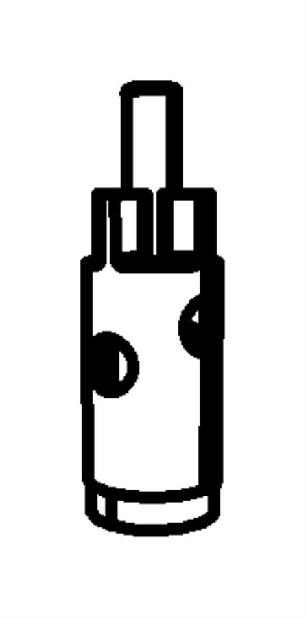 Chrysler Pacifica Plunger. Oil pressure relief valve