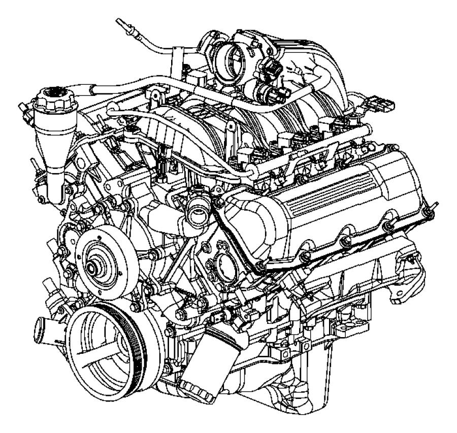 Dodge NITRO Manifold. Exhaust. Left, left side. Engine
