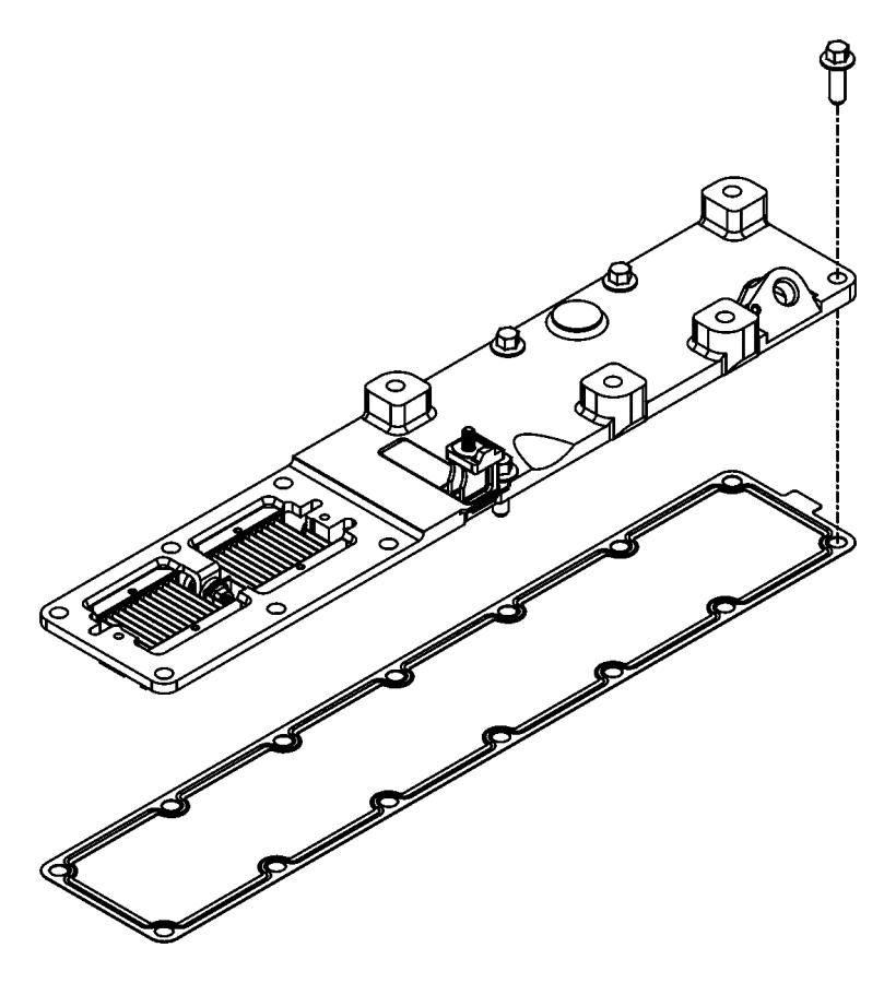 Ram 3500 Gasket. Air intake heater, intake manifold cover