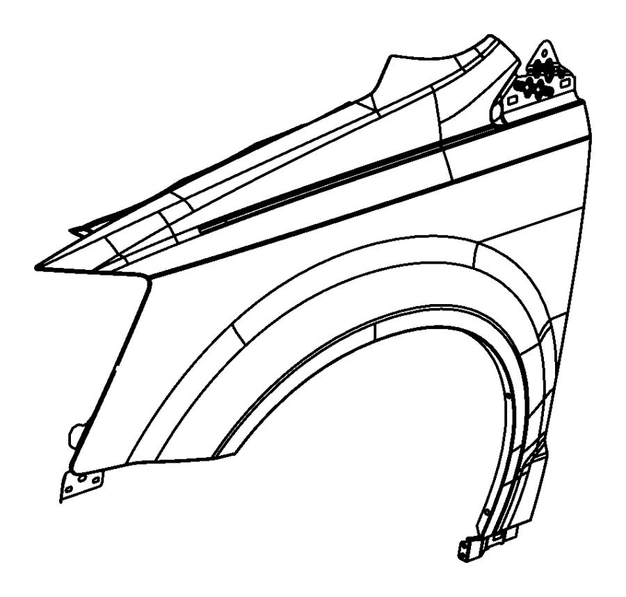 Ram Cargo Van Panel. Fender. Left. [ext. Mirrors w