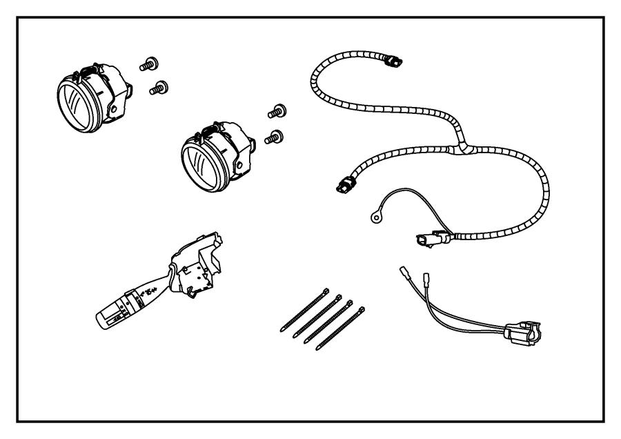Jeep Liberty Harness. Overlay. Fog, kit, light