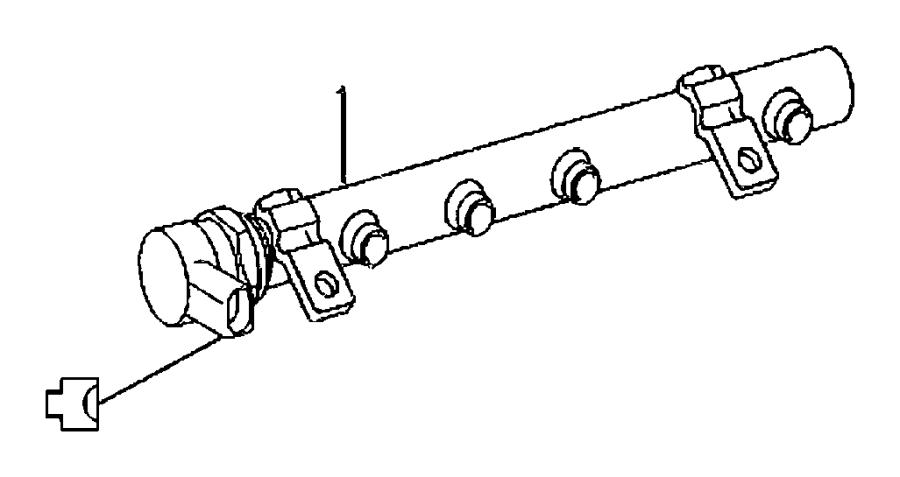 Jeep Grand Cherokee Distributor, rail. Fuel. Left. Left