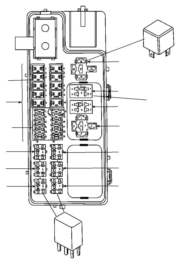 Dodge Durango Fusible link. 140 amp. 06101757, 140 amp