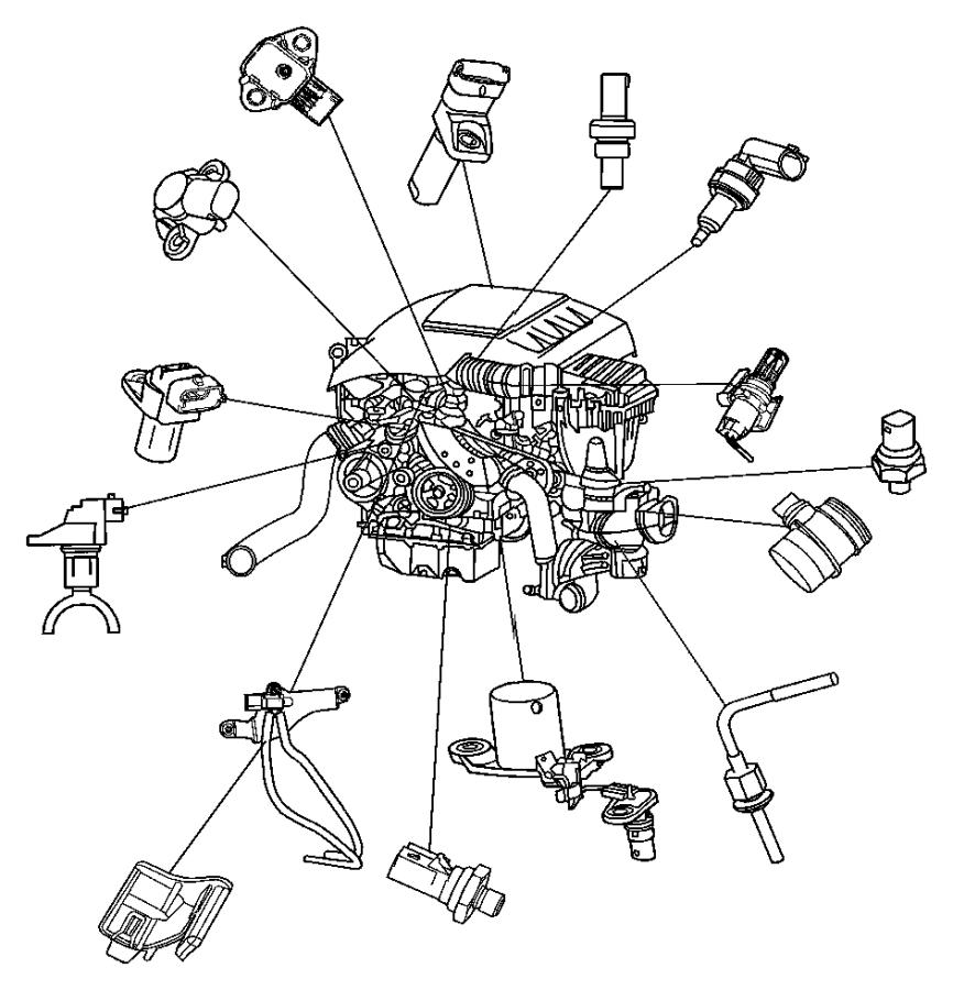 Jeep Grand Cherokee Sensor. Oil level. Engine, sensors