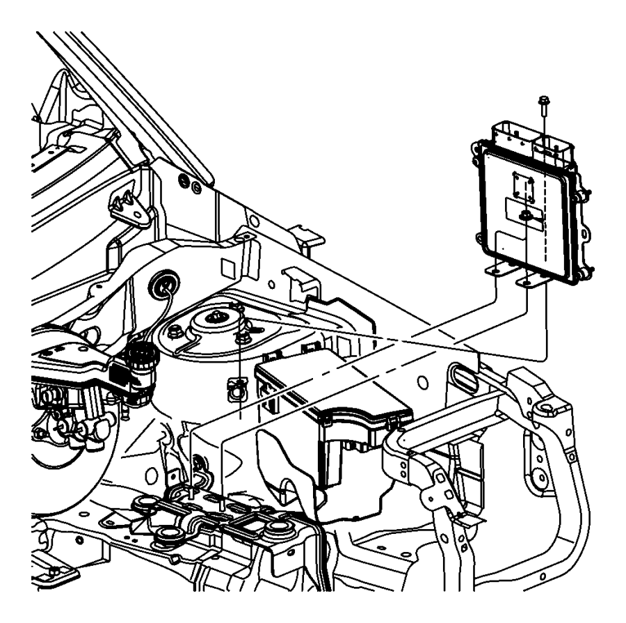 Dodge Caliber Module. Engine controller. Diesel. After 05