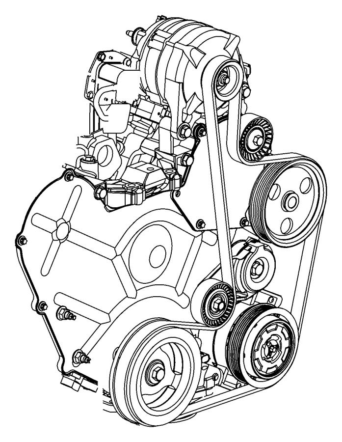 Dodge Grand Caravan Pulley. Power steering pump