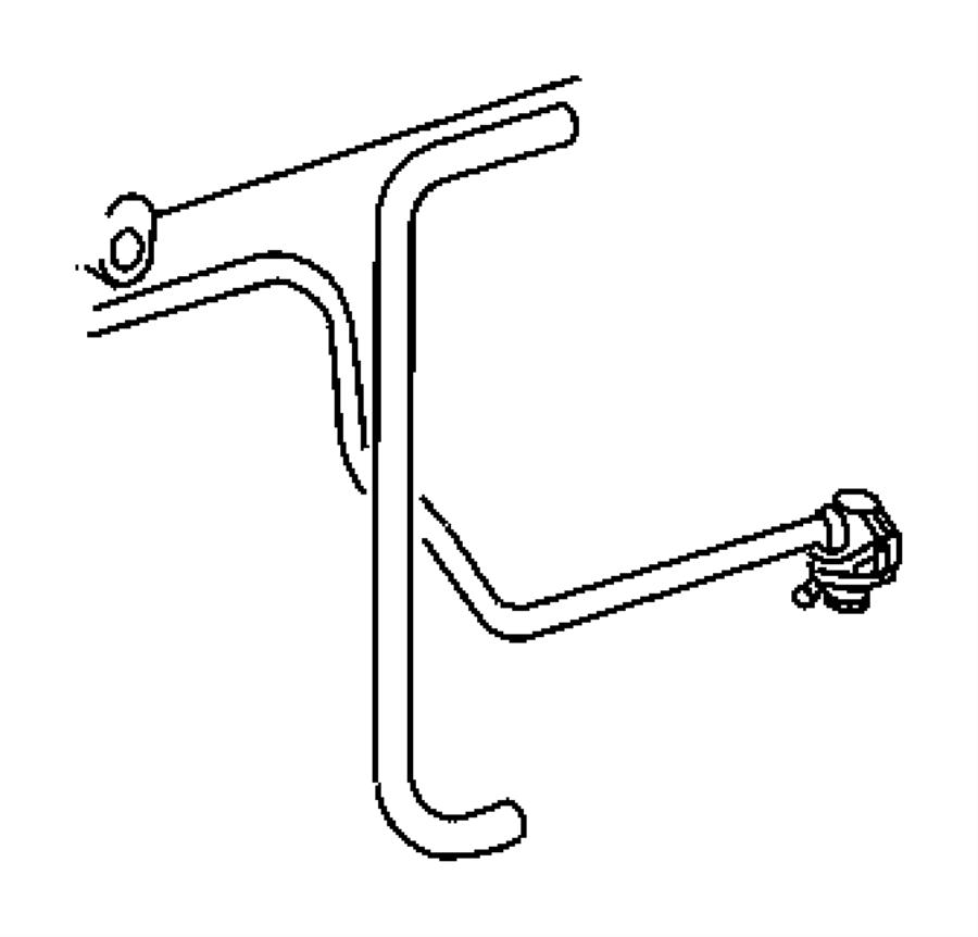 Dodge SPRINTER Hose. Fuel filter. Mopar, lines, line