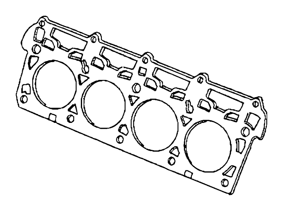 Dodge Challenger Gasket. Cylinder head. Right. Right side