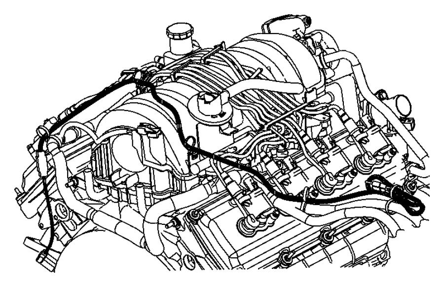 Dodge Durango Cord. Engine block heater. [5.7l v8 mds vvt