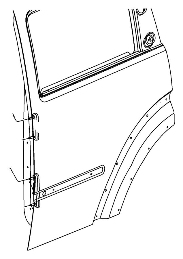 Jeep Liberty Panel. Rear door outer. Right. Shell, mopar