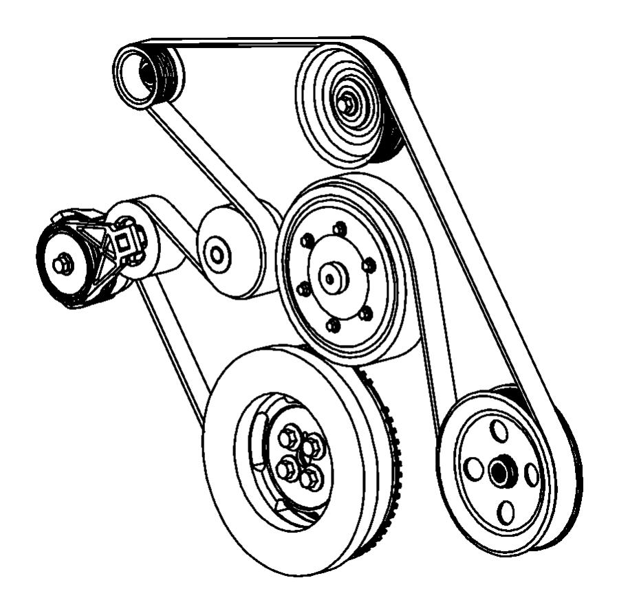 Dodge Ram 4500 Pulley. Alternator. [6-speed manual g56
